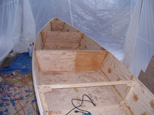 E. bottom, sides and bulkheads